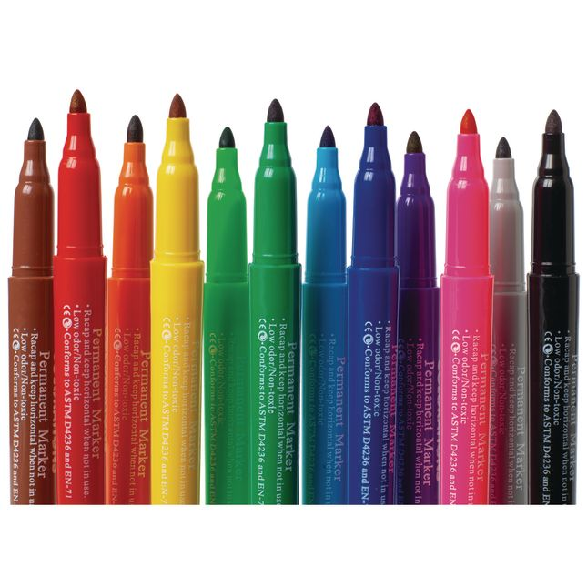Colorations Permanent Marker Classroom Pack 84 Pieces
