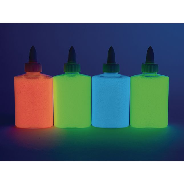 Colorations Glow in the Dark Glue, Set of 4, each 4 oz_1