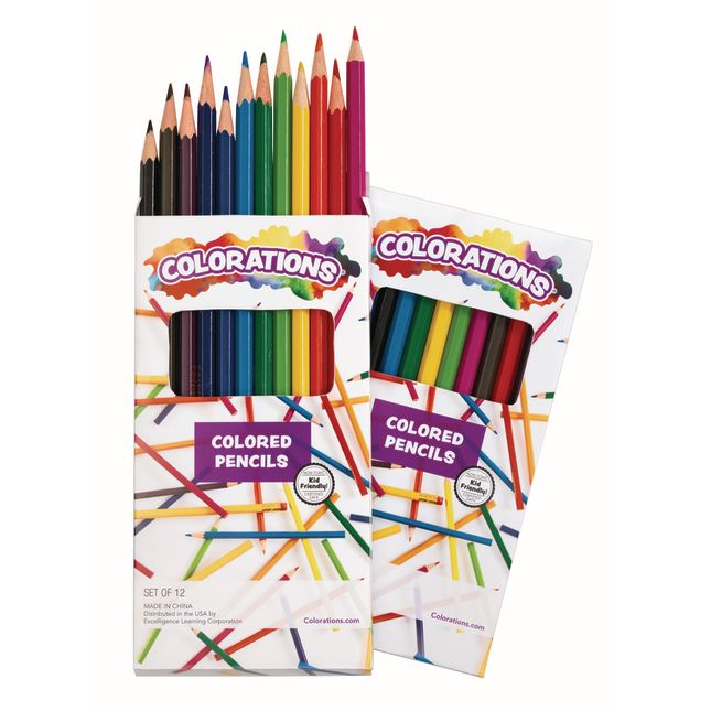 Colorations Regular Colored Pencils, 12 Colors, 2 Sets_0