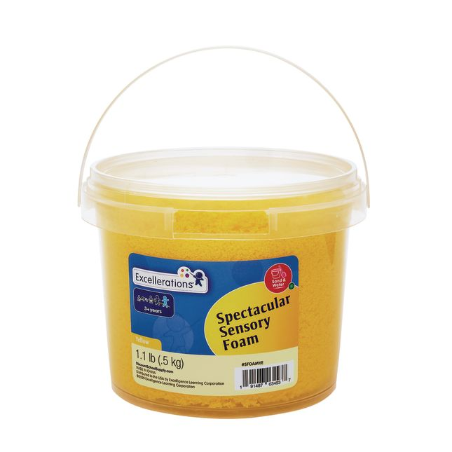 Excellerations Spectacular Sensory Foam Set of 5 Tubs, 5.5 lbs.
