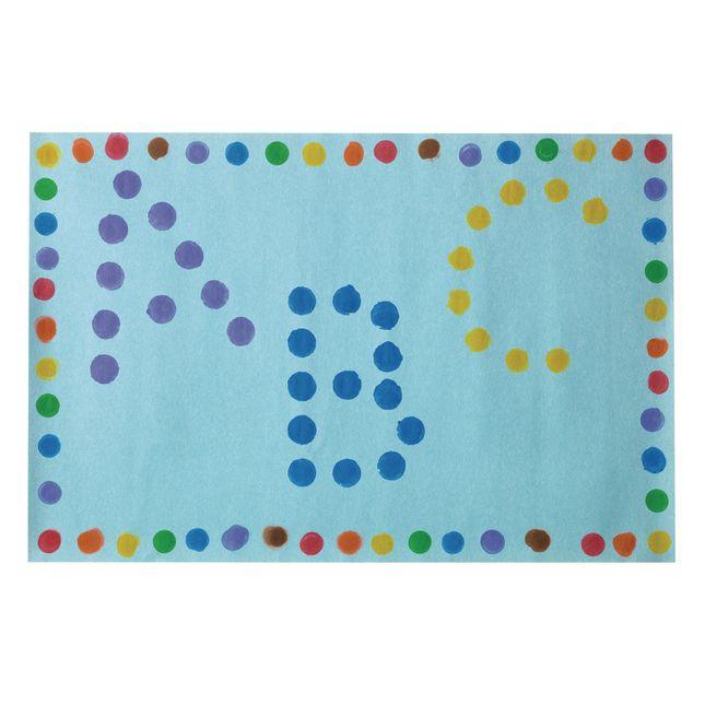Dabber Dot Stencil Set Upper Case Alphabet, 26 Piece Stencil Set