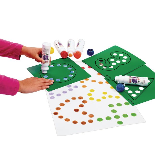 Dabber Dot Stencil Set Letters & Numbers, 20 Piece Stencil Set