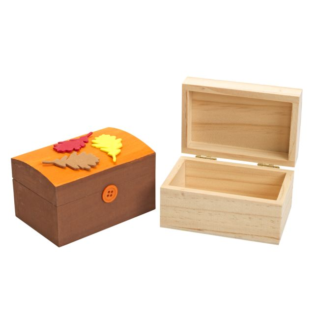 Colorations Wooden Treasure Boxes - Set of 12