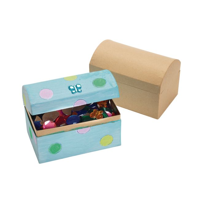 Colorations Decorate Your Own Papier Mache Treasure Chests Set of 12