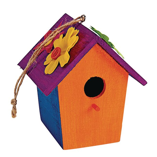 Colorations Wooden Birdhouses Set of 6_2