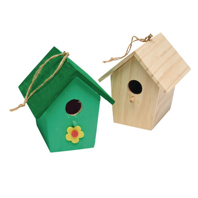 Colorations Wooden Birdhouses Set of 6_3