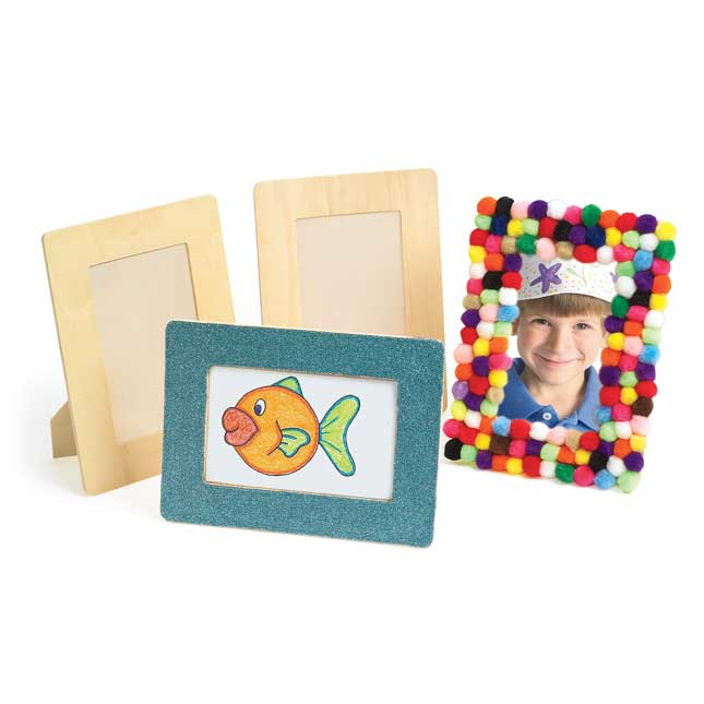 Colorations Wooden Standing Frames Set of 12