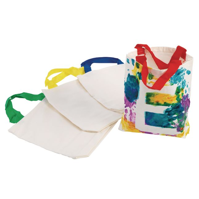 Colorations Canvas Tote Bags Set of 12
