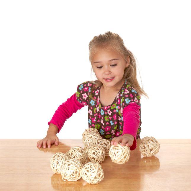 Excellerations® Wicker Balls - 10 Pieces