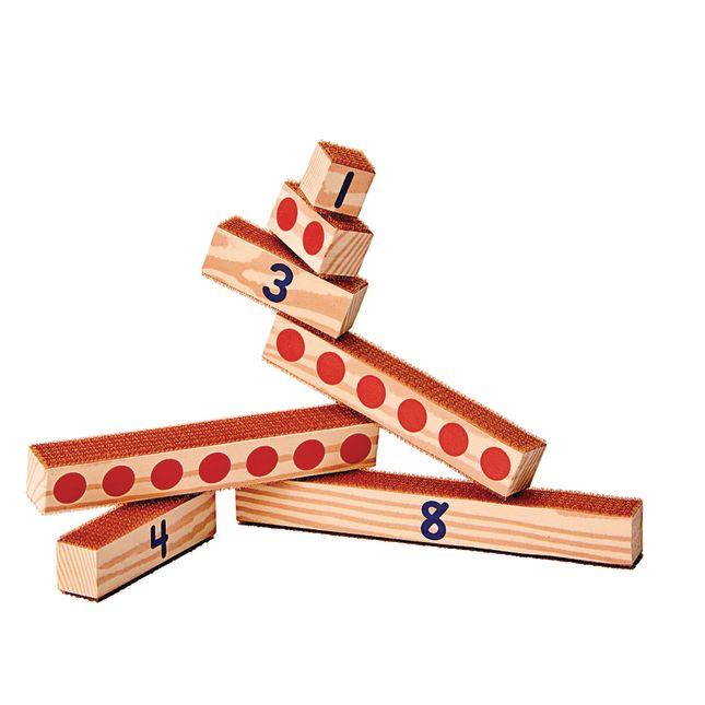 Excellerations® Hook and Loop Number Blocks - Set of 27