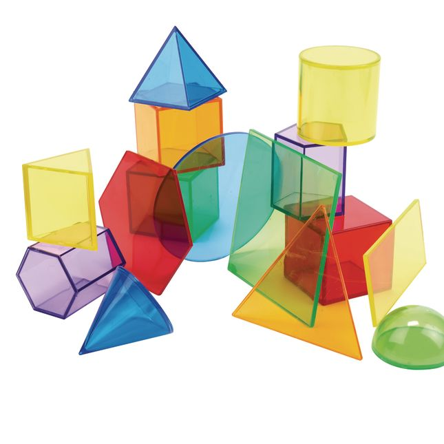 Excellerations® STEM Translucent Shapes set with Activity Cards 71 Pieces