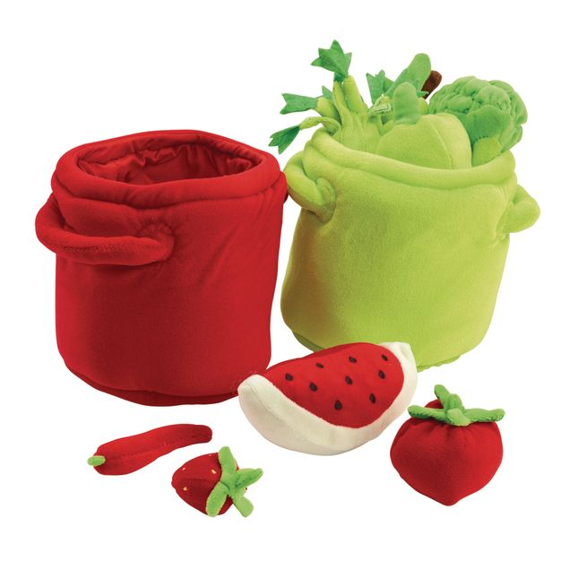 Excellerations® Colorful Plush Fruits and Veggies - 20 Pieces