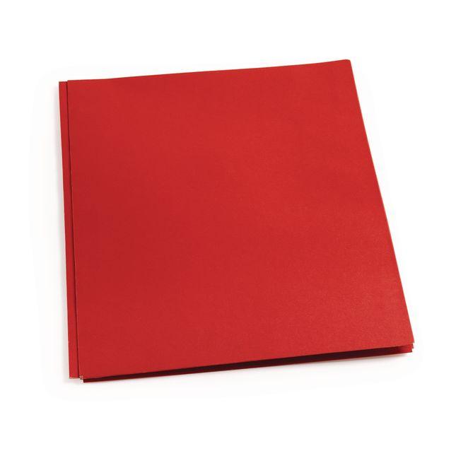 Pocket and Brad Folder, Red