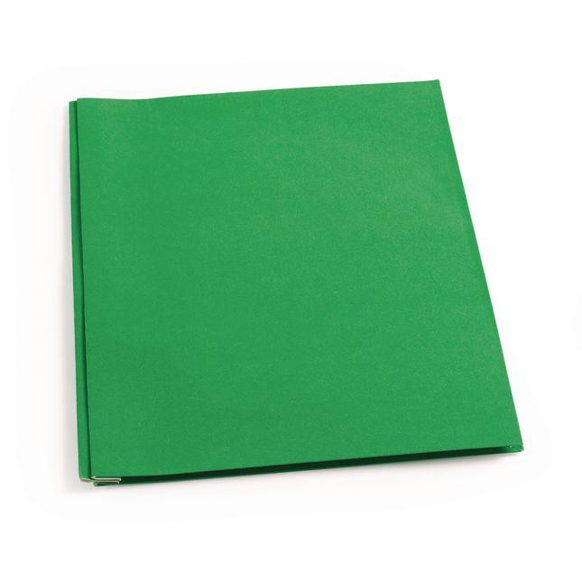 Pocket and Brad Folder, Green