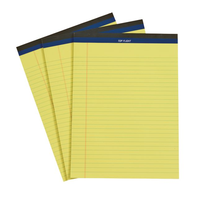 Letter Size Writing Pad - 50 Sheets, Set of 3