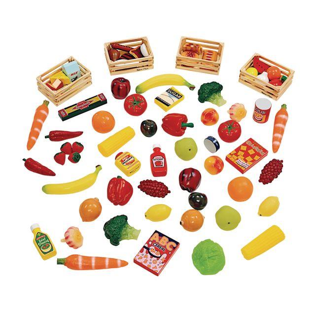 Classroom Starter Kit Food - 61 Pieces with Storage Bin
