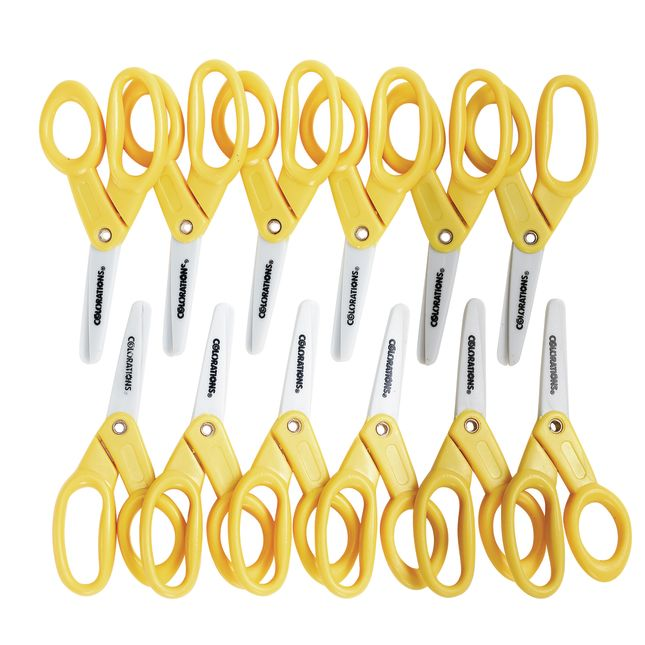 "Colorations® 5"" Plastic Scissors – Set of 12"