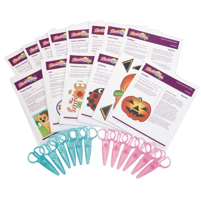 Colorations® Cutting Skills Activity Set, Pack of 12 Scissors