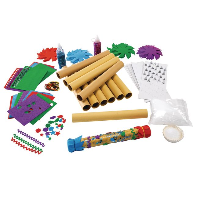 Colorations® Rainstick Craft Kit for Kids Pack of 12 Arts and Crafts ProjectRainstick Craft Kit - Kit for 12