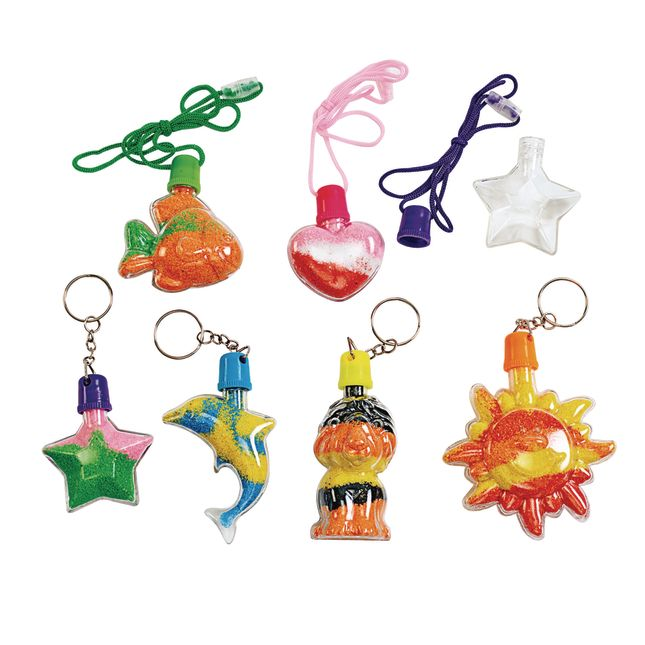 Colorations® Sand Art Necklace and Key Chain Group Pack