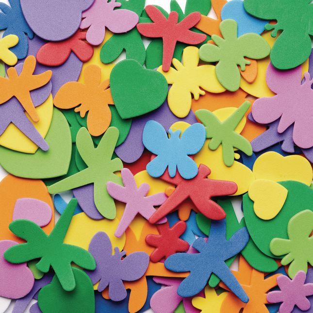Colorations[r] Flowers, Hearts and Bug Foam Shapes - 500 Pieces