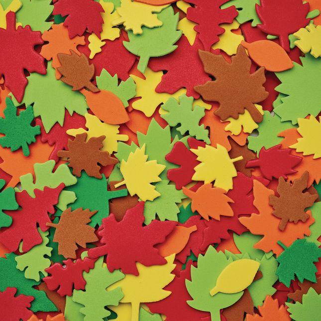 Colorations[r] Colorful Leaf Foam Shapes - 500 Pieces
