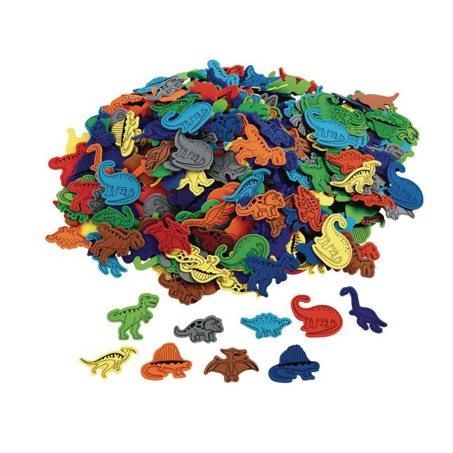 Colorations[r] Dinosaur Foam Shapes, 500 pieces