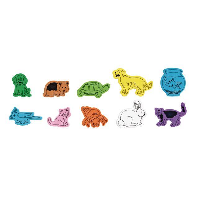 Colorations® Favorite Pets Foam Shapes - 500 Pieces