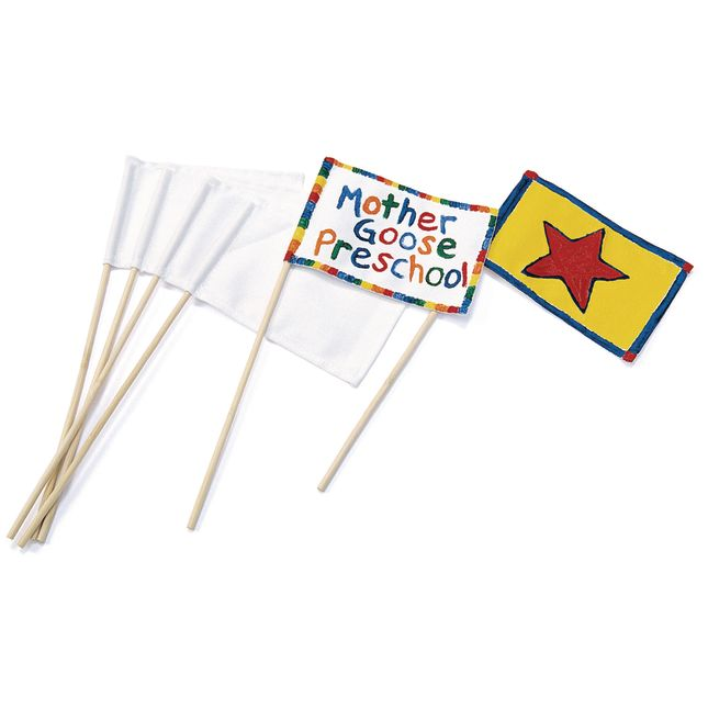 Colorations[r] White Canvas Flags - Set of 12