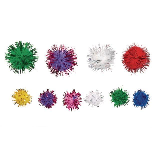 Colorations[r] Glitter Pom-Poms - 300 Pieces