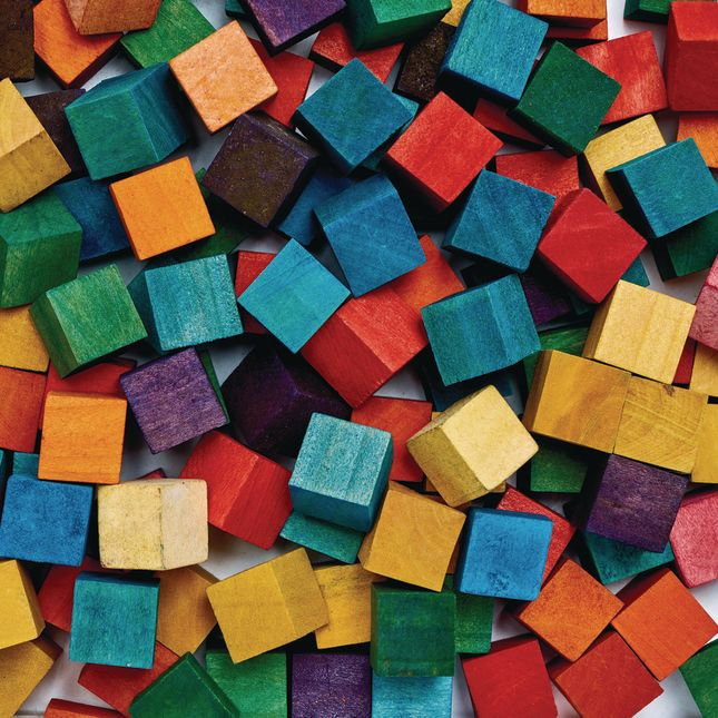 Colorations® Colored Wood Cubes - 196 Pieces