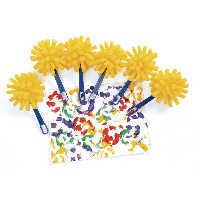 Colorations[r] Sponge Paint Wands - Set of 6