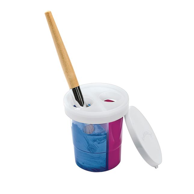 Colorations® Double-Dip Divided Paint Cups Set of 5