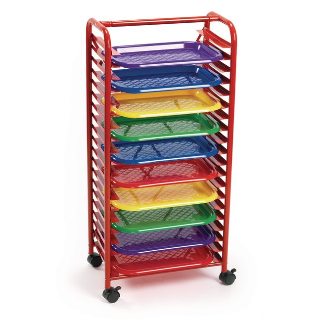 Colorations[r] Mobile Art Rack with 10 Trays
