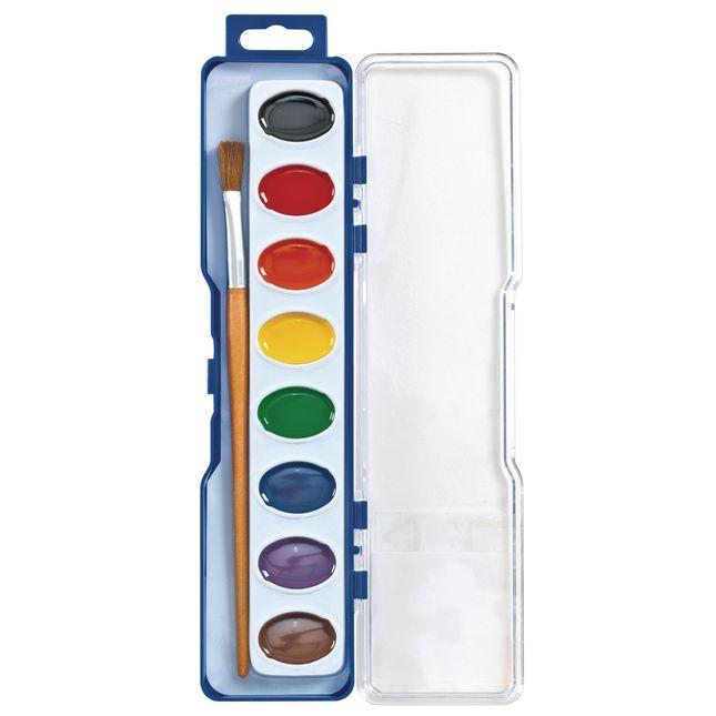 Colorations® Regular Best Value Washable Watercolor Paints, 4 Palettes, 8 Colors ea