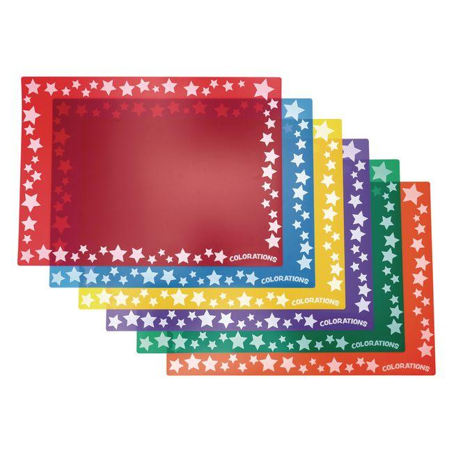 Colorations® Keep-It-Clean Plastic Art Mats - Set of 6