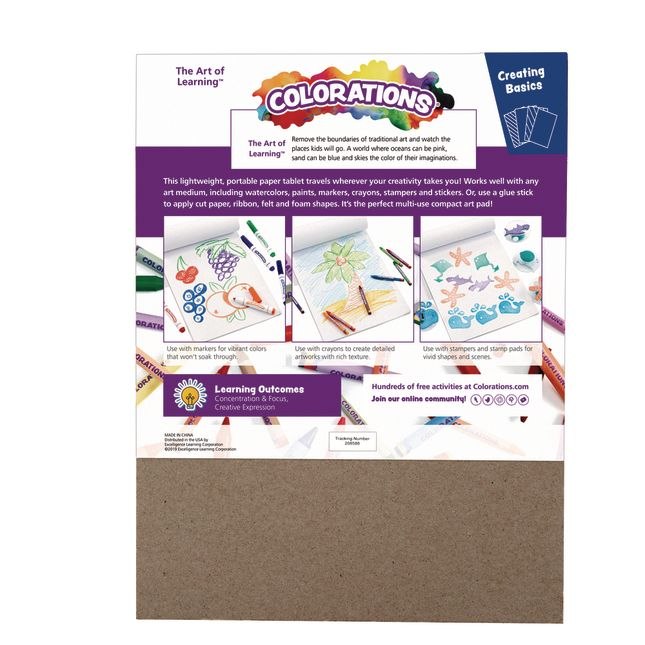 Colorations Drawing Pads, Set of 3, 9 inches x 12 inches