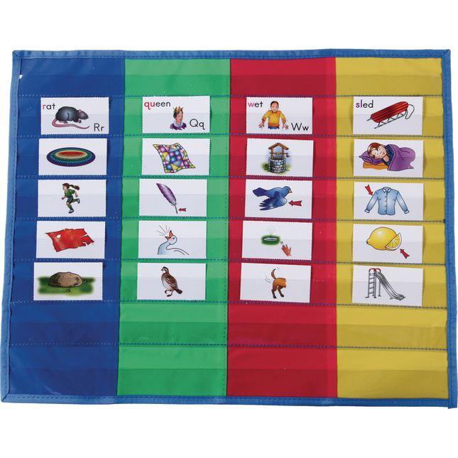 4-Column Desktop Pocket Chart™ - 1 pocket chart