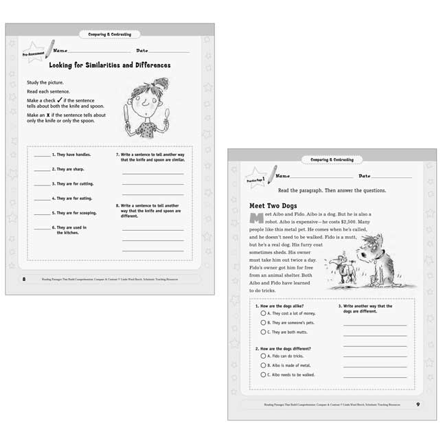 Reading Passages Compare And Contrast Book - Grades 2-3