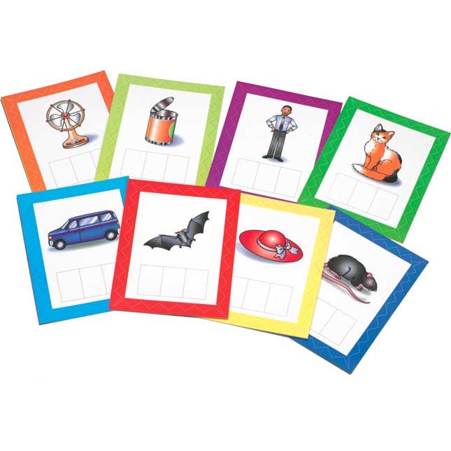 Make-A-Word CVC Word Building Cards Set