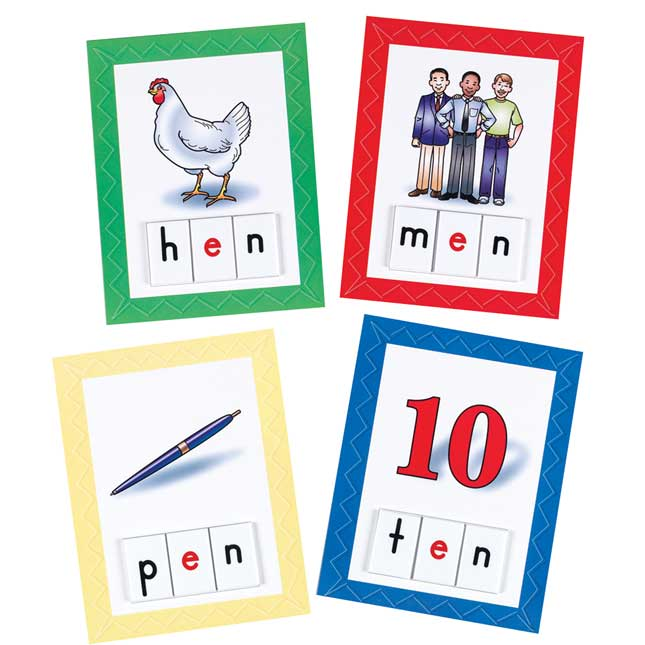 EZread™ CVC Make-A-Word Card and Letter Tile Set