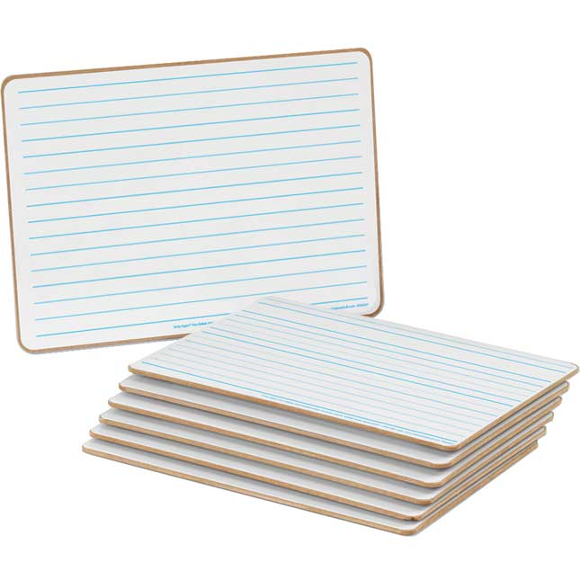 Two-Sided Intermediate Lined Write Again® Dry Erase Boards
