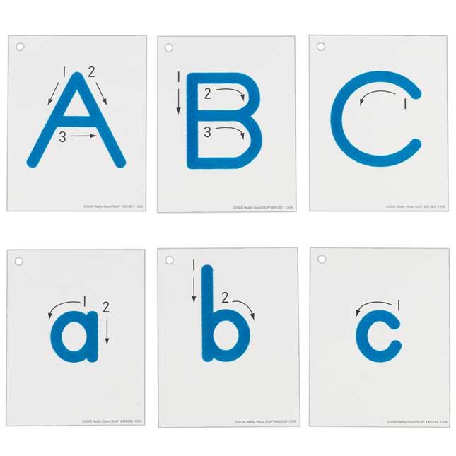 EZread™ Fuzzy Tactile Letters Complete Set
