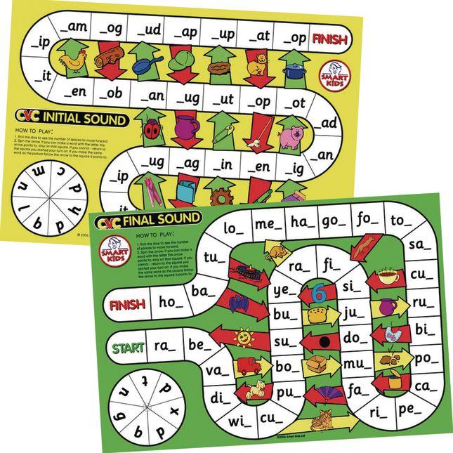 CVC Spelling Board Games - 6 games