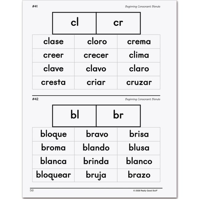 Essential Spanish Word Sorts Book