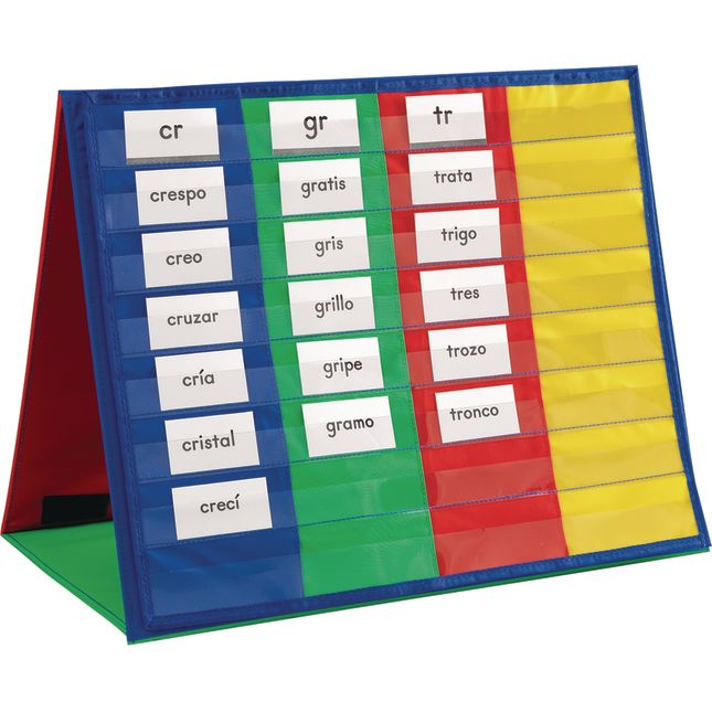 Essential Spanish Word Sorts™ Cards - Beginning Blends and Diphthongs - 1 set of cards.