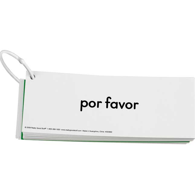 EZread™ Spanish High Frequency Word Phrase Flash Cards: Beginning Reader