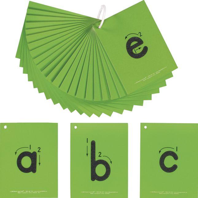 EZread™ Sandpaper Tactile Letters: Lowercase - 26 cards