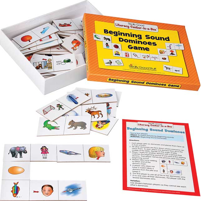 Beginning Sound Dominoes Literacy Center - Grades K-1