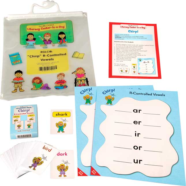 Chirp! R Controlled Patterns Literacy Center - Grades 2-3